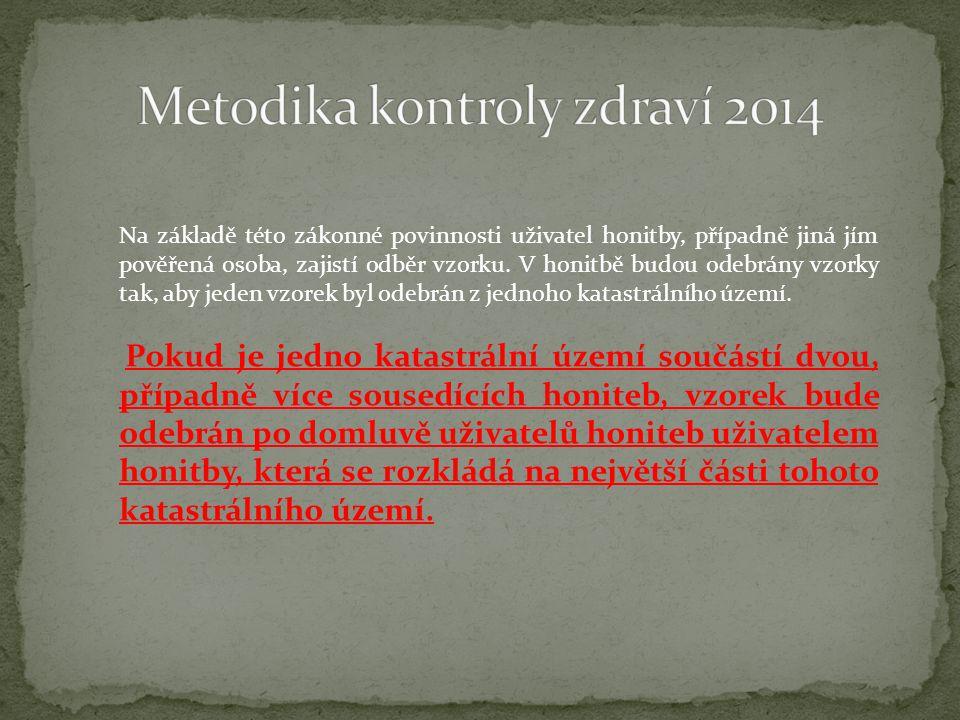 Metodika kontroly zdraví 2014