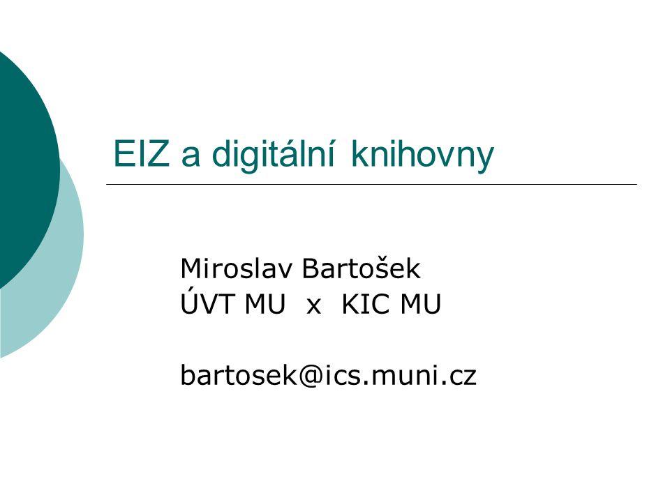 EIZ a digitální knihovny