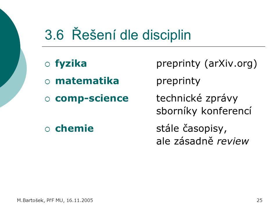 3.6 Řešení dle disciplin fyzika preprinty (arXiv.org)