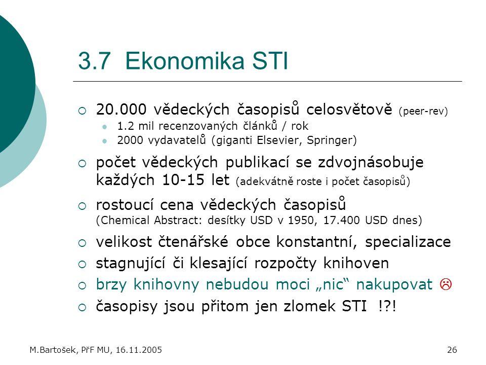 3.7 Ekonomika STI 20.000 vědeckých časopisů celosvětově (peer-rev)