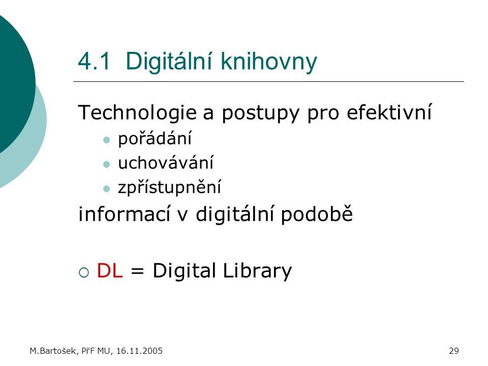 4.1 Digitální knihovny Technologie a postupy pro efektivní