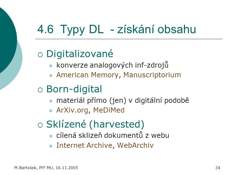 4.6 Typy DL - získání obsahu