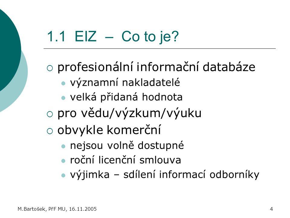1.1 EIZ – Co to je profesionální informační databáze