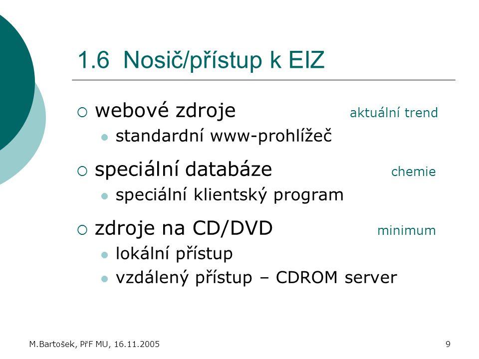 1.6 Nosič/přístup k EIZ webové zdroje aktuální trend