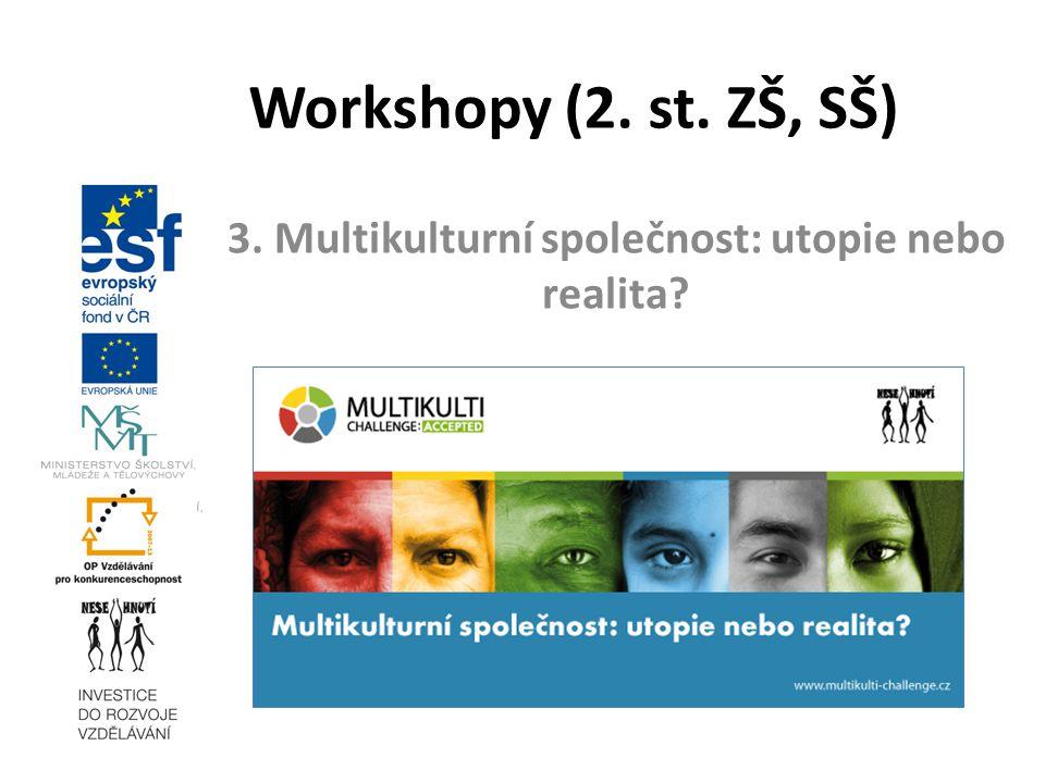 3. Multikulturní společnost: utopie nebo realita