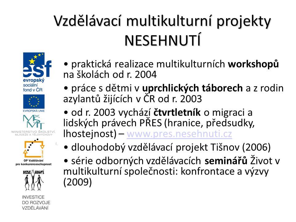 Vzdělávací multikulturní projekty NESEHNUTÍ
