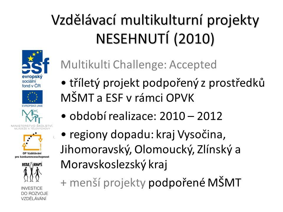 Vzdělávací multikulturní projekty NESEHNUTÍ (2010)