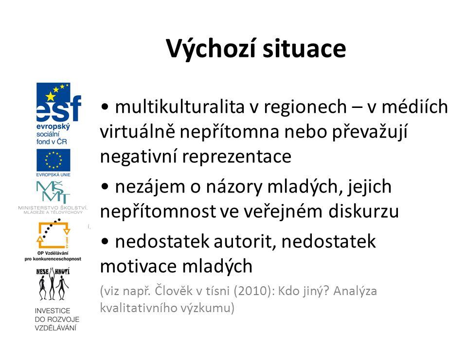 17. 3. 2010 Výchozí situace. • multikulturalita v regionech – v médiích virtuálně nepřítomna nebo převažují negativní reprezentace.