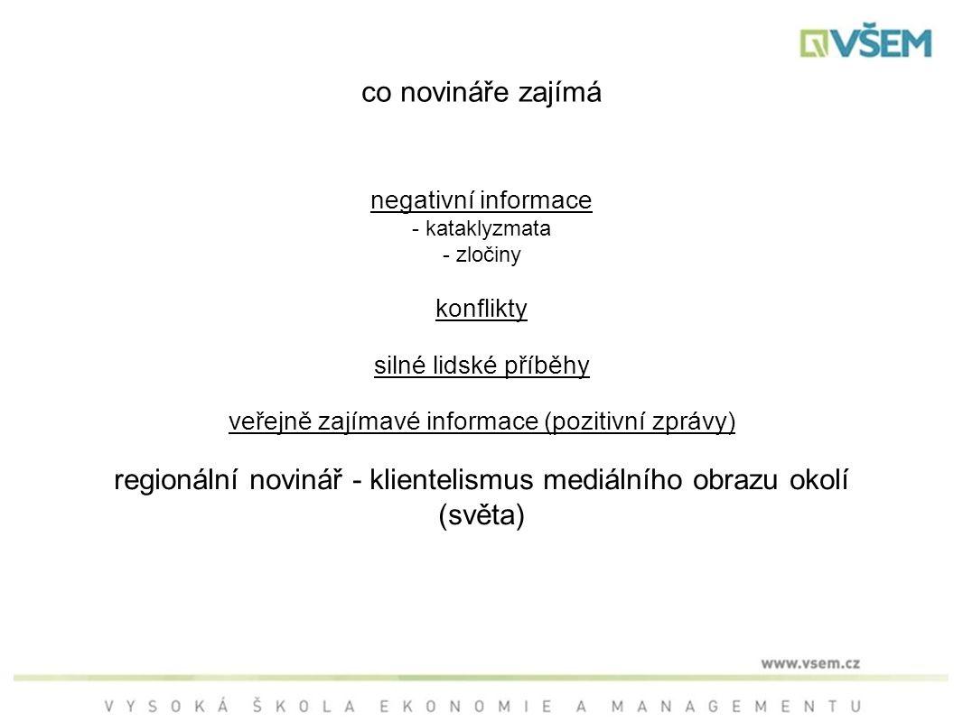 regionální novinář - klientelismus mediálního obrazu okolí (světa)