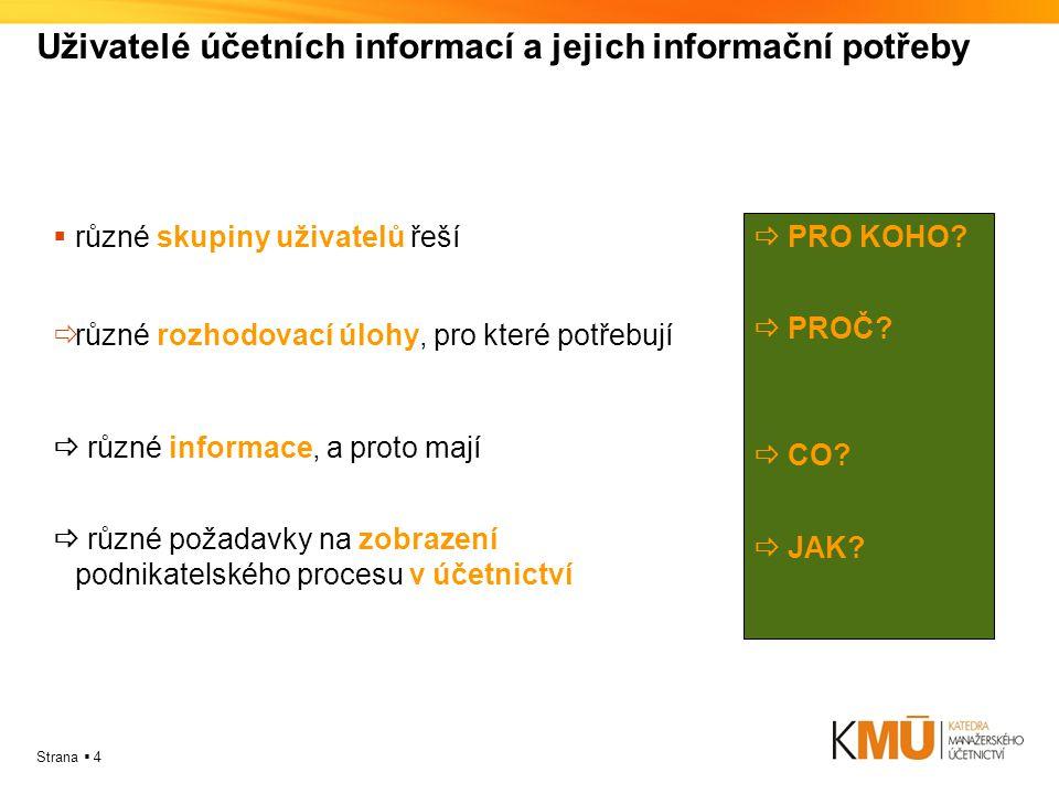 Uživatelé účetních informací a jejich informační potřeby