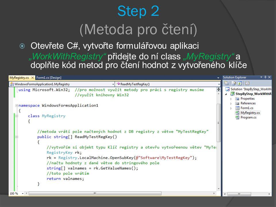 Step 2 (Metoda pro čtení)