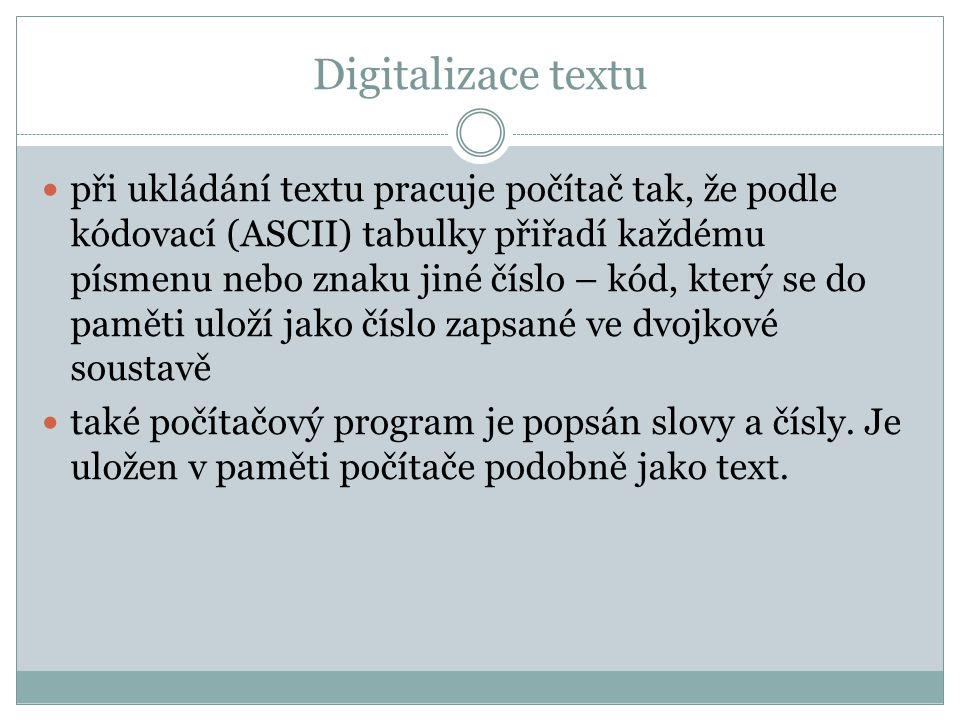 Digitalizace textu