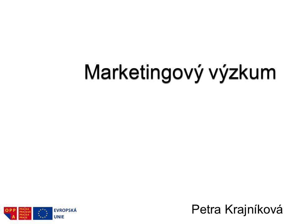 Marketingový výzkum Petra Krajníková