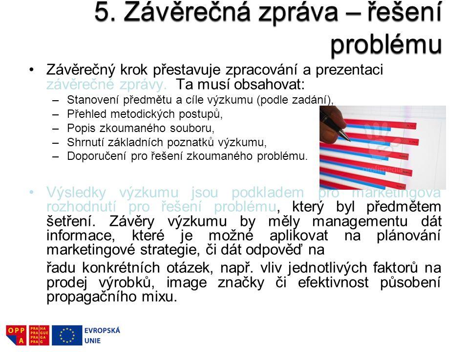 5. Závěrečná zpráva – řešení problému