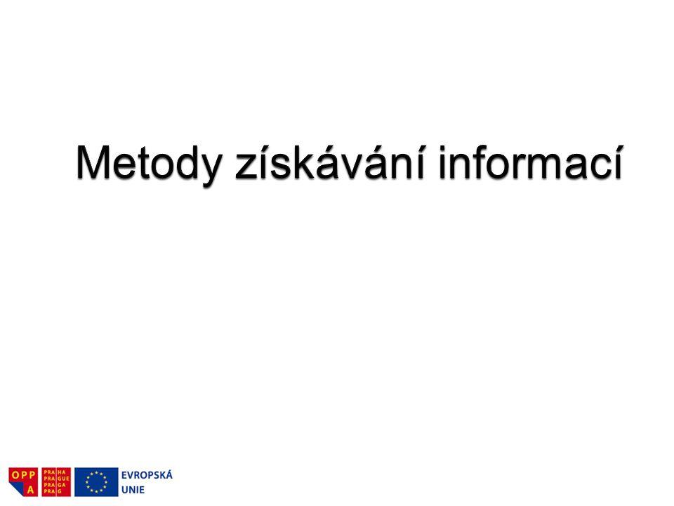 Metody získávání informací