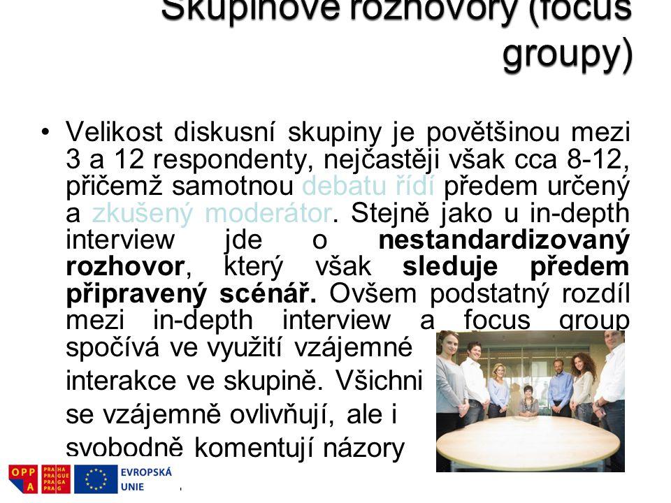 Skupinové rozhovory (focus groupy)