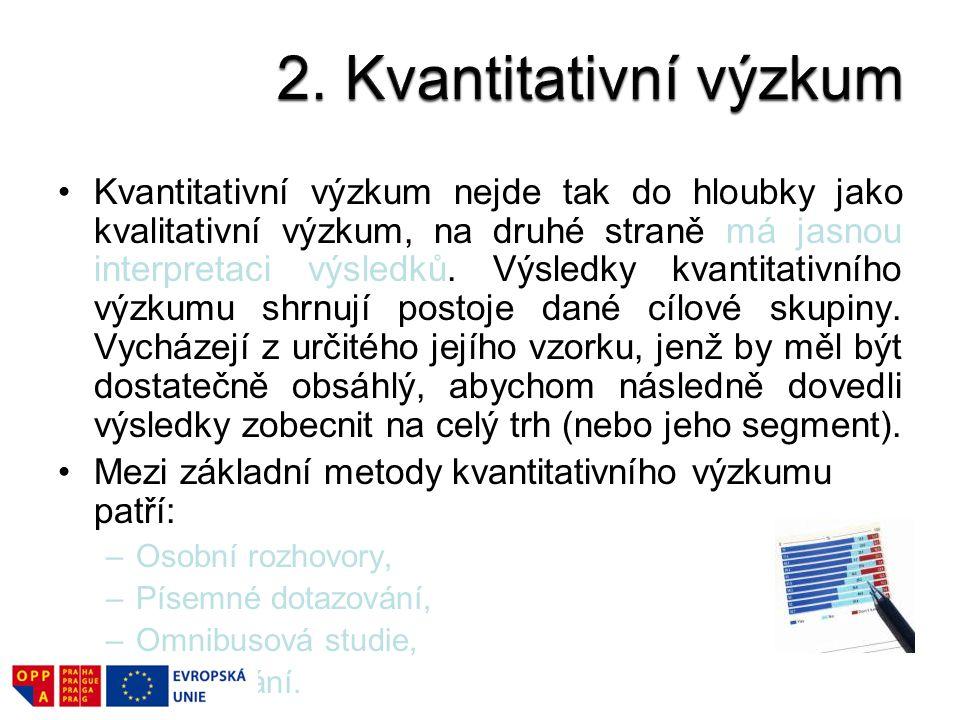 2. Kvantitativní výzkum
