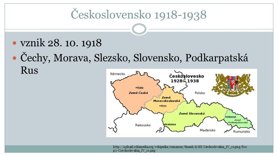 Československo 1918-1938 vznik 28. 10. 1918
