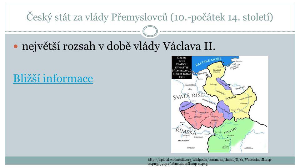 Český stát za vlády Přemyslovců (10.-počátek 14. století)