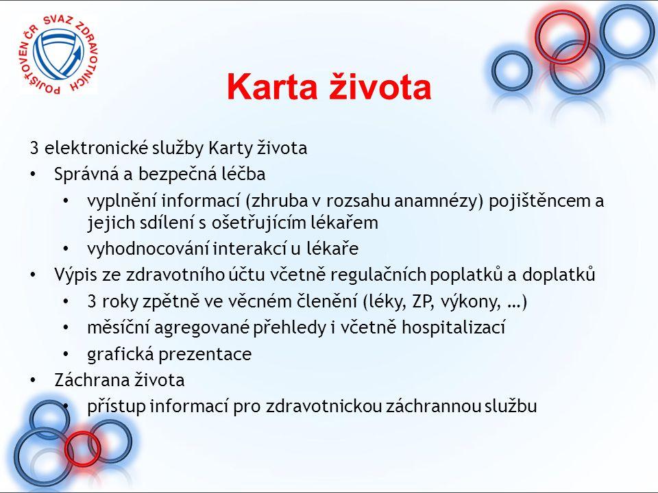 Karta života 3 elektronické služby Karty života