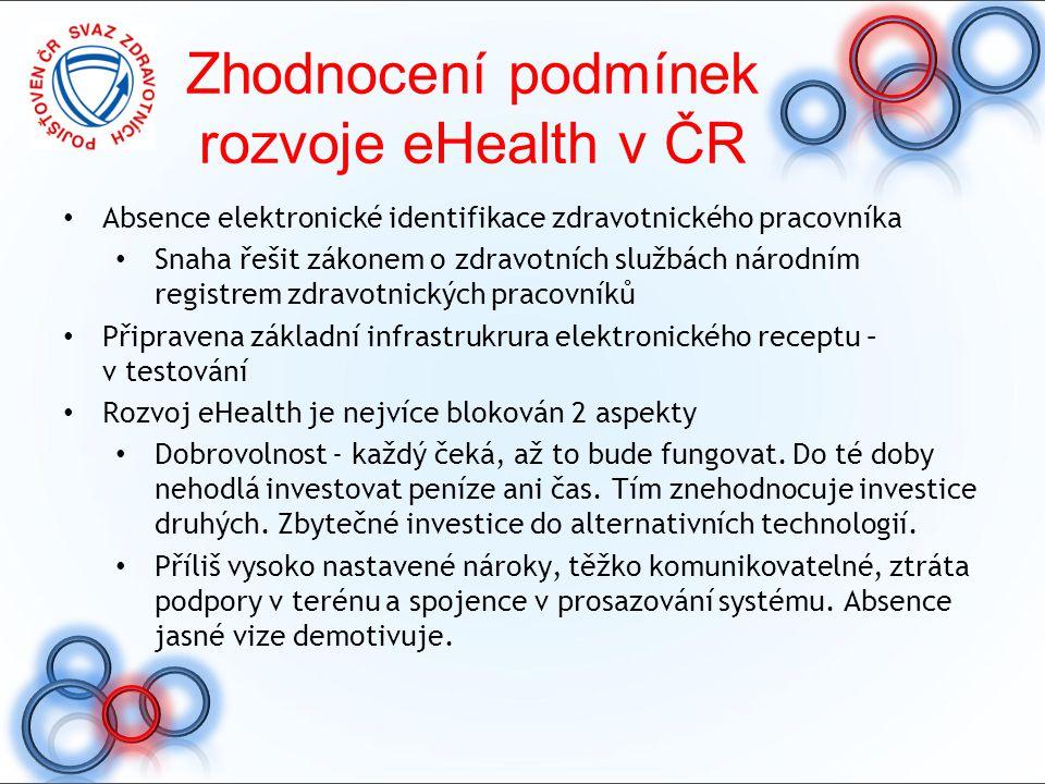 Zhodnocení podmínek rozvoje eHealth v ČR