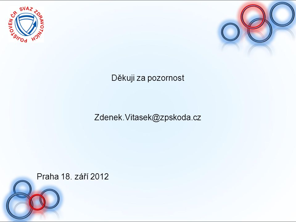 Děkuji za pozornost Zdenek.Vitasek@zpskoda.cz Praha 18. září 2012 45