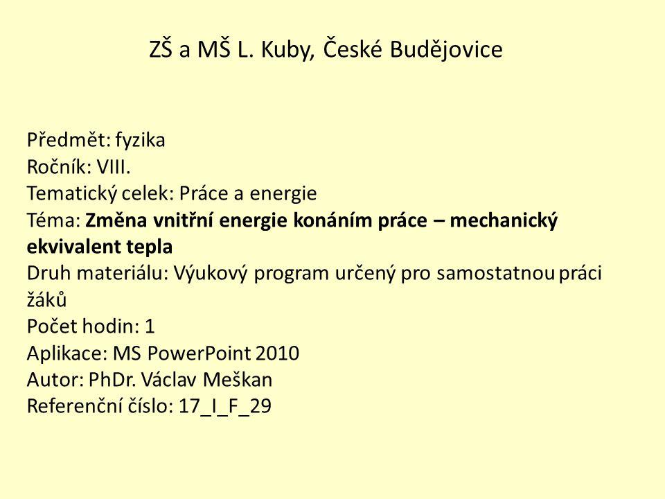 ZŠ a MŠ L. Kuby, České Budějovice