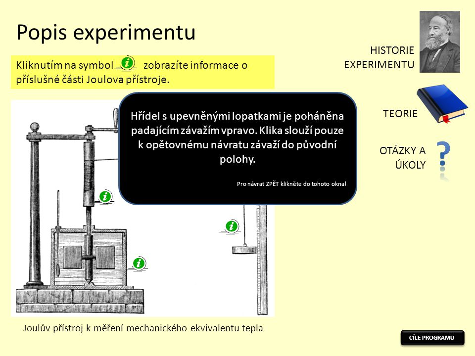 Popis experimentu HISTORIE EXPERIMENTU