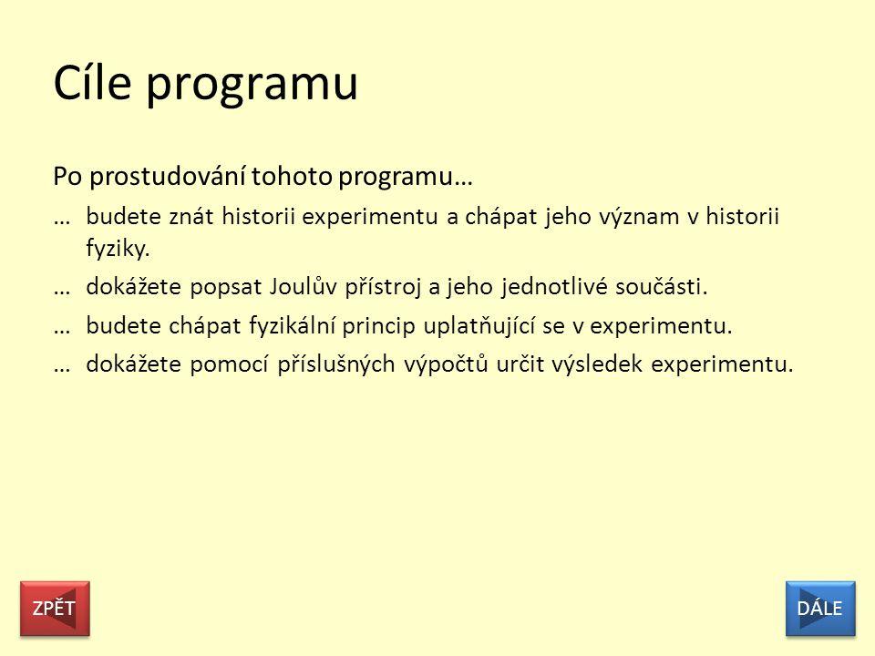 Cíle programu Po prostudování tohoto programu…