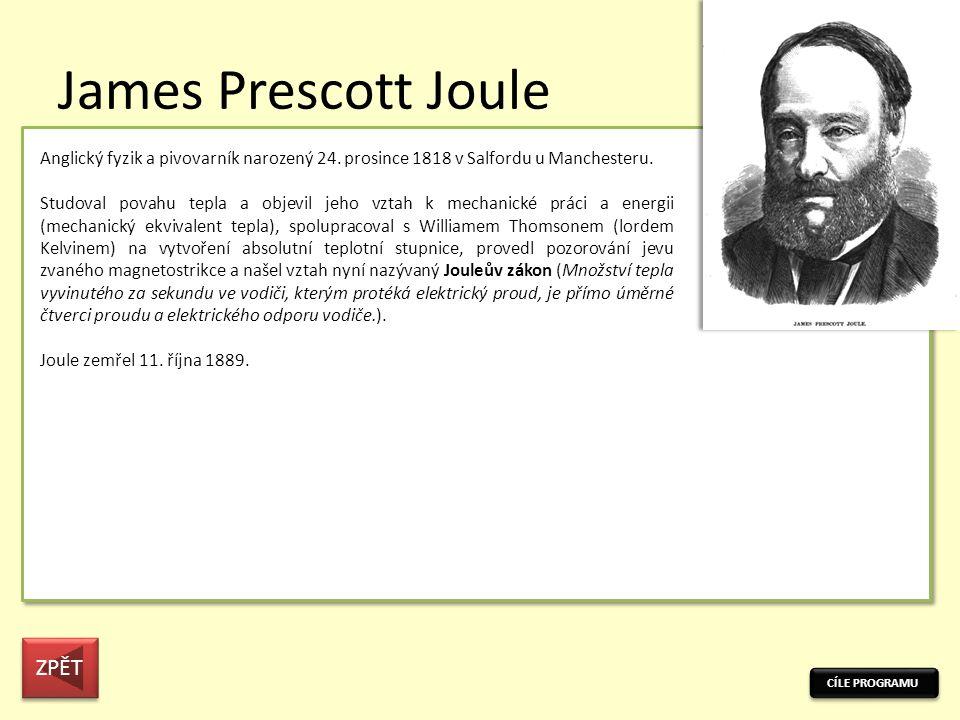 James Prescott Joule ZPĚT