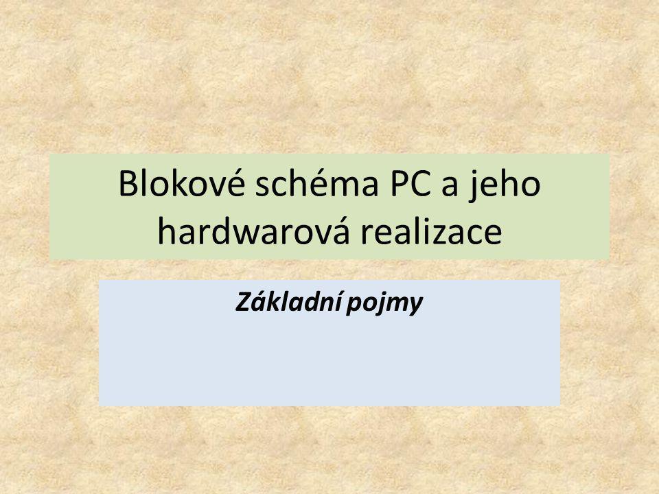 Blokové schéma PC a jeho hardwarová realizace