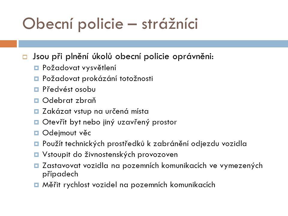 Obecní policie – strážníci