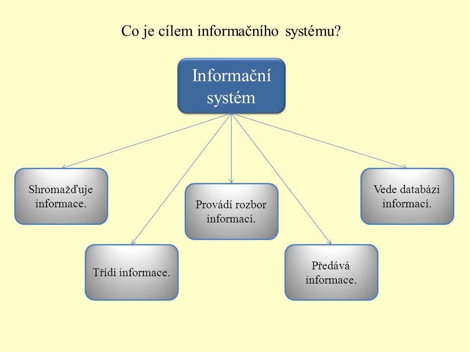 Informační systém Co je cílem informačního systému