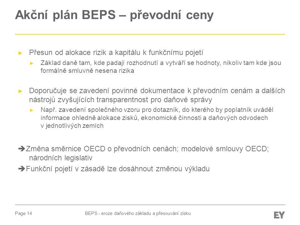 Akční plán BEPS – převodní ceny