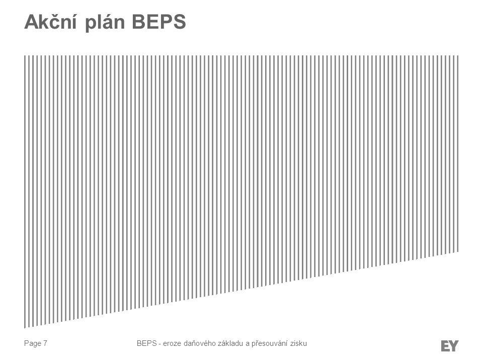 Akční plán BEPS BEPS - eroze daňového základu a přesouvání zisku