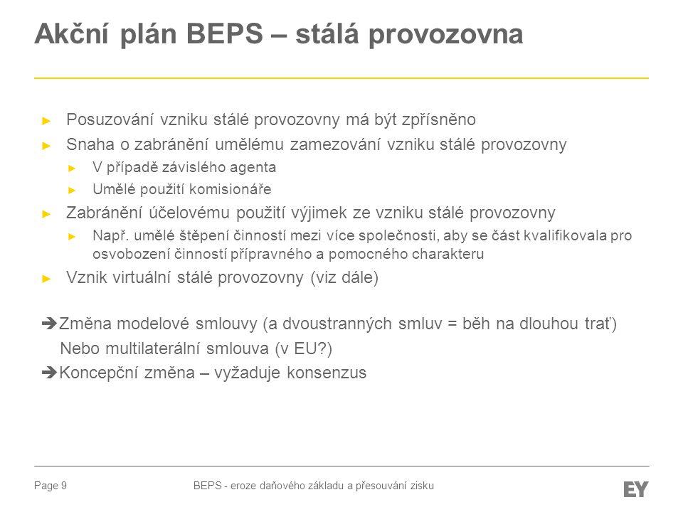 Akční plán BEPS – stálá provozovna