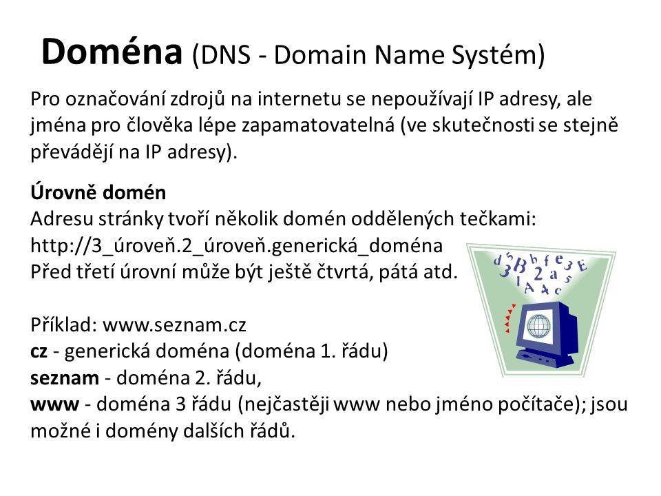 Doména (DNS - Domain Name Systém)