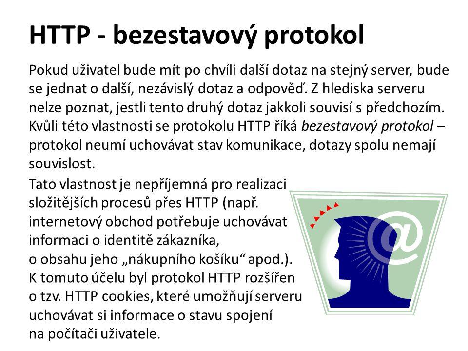 HTTP - bezestavový protokol