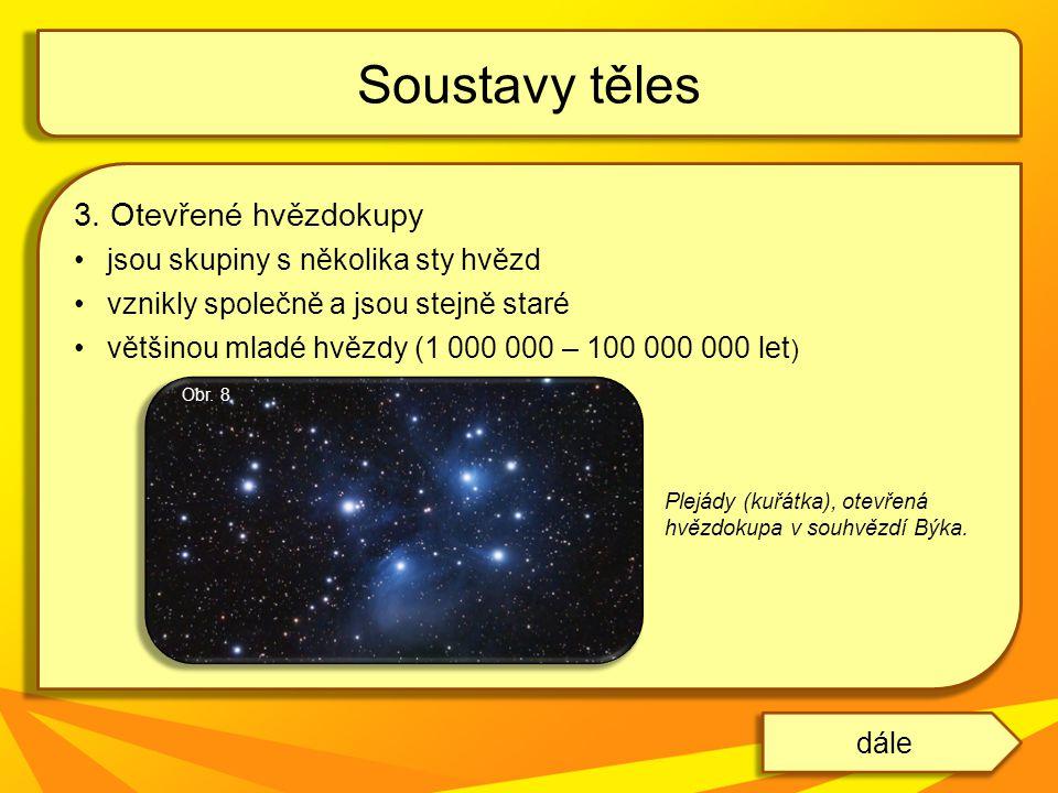 Soustavy těles 3. Otevřené hvězdokupy