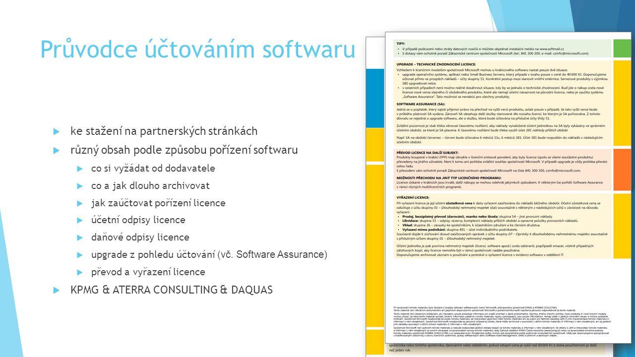 Průvodce účtováním softwaru