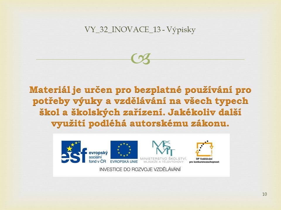 VY_32_INOVACE_13 - Výpisky