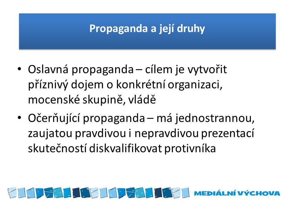 Propaganda a její druhy