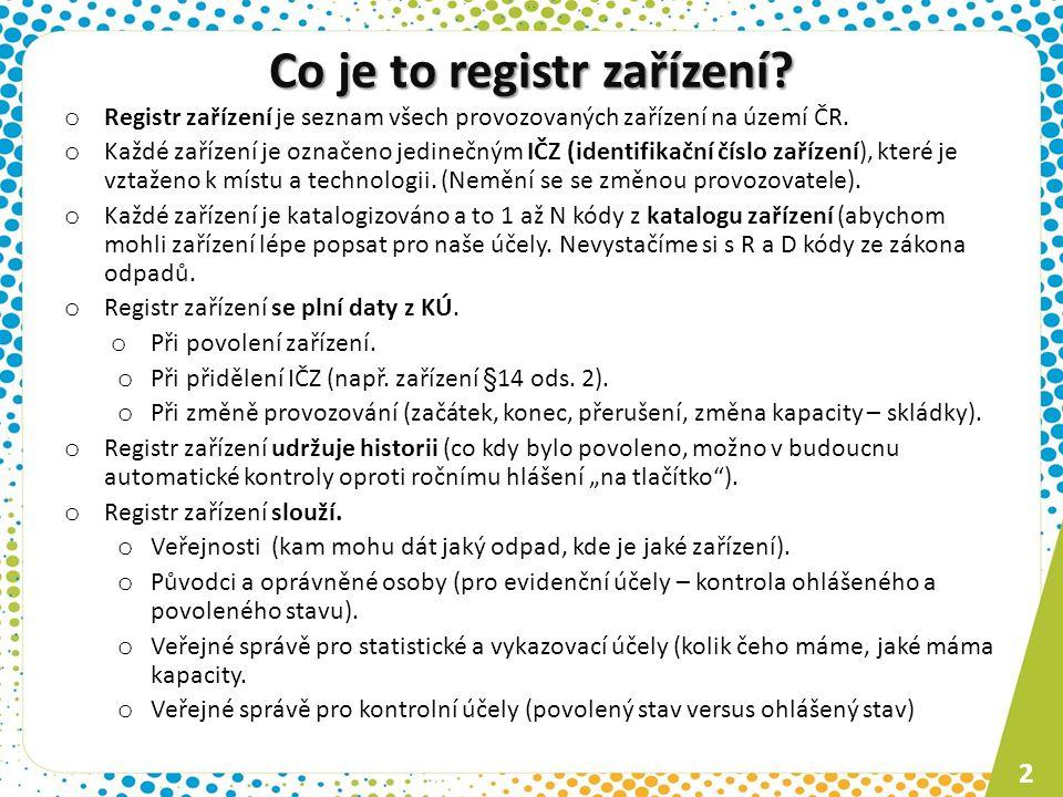 Co je to registr zařízení