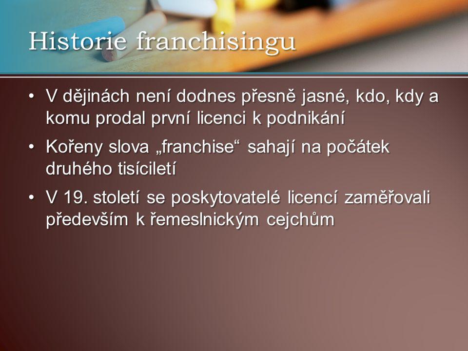 Historie franchisingu