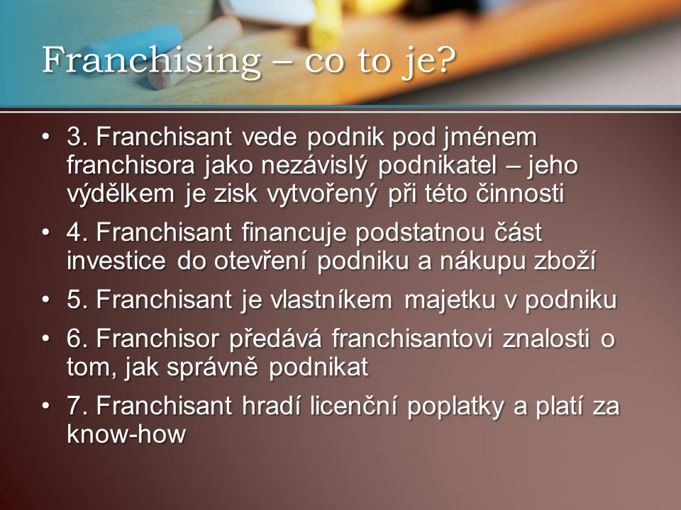 Franchising – co to je