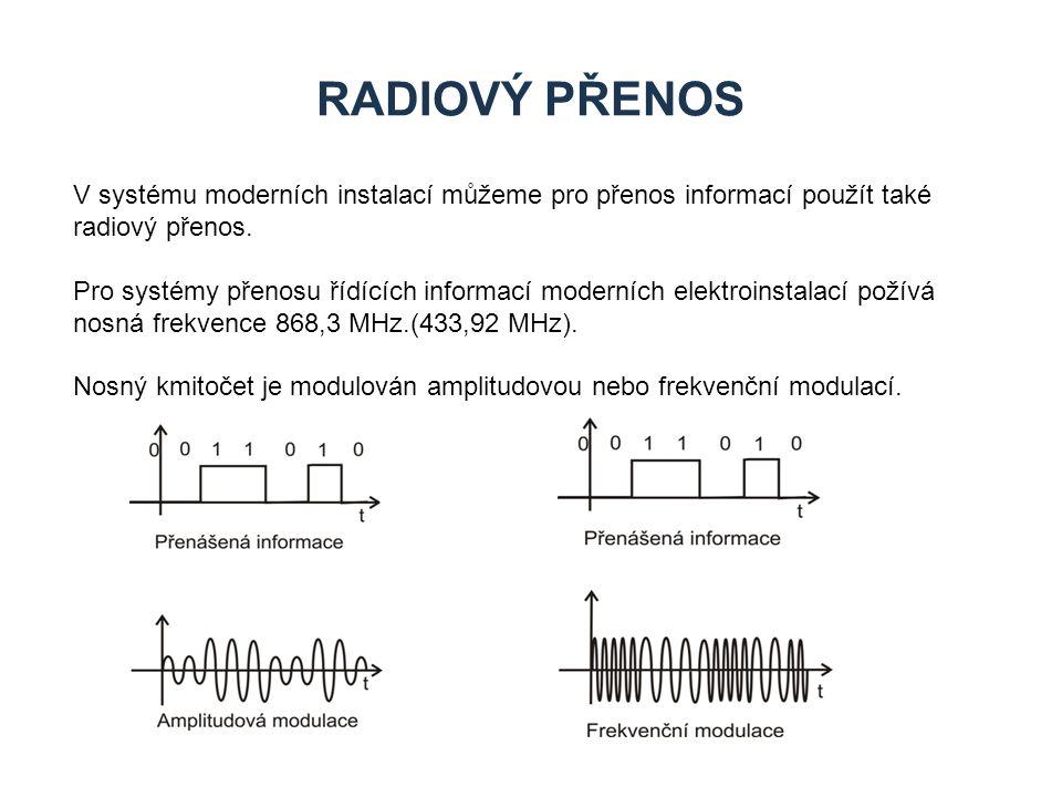 Zdroje Radiový přenos. V systému moderních instalací můžeme pro přenos informací použít také radiový přenos.