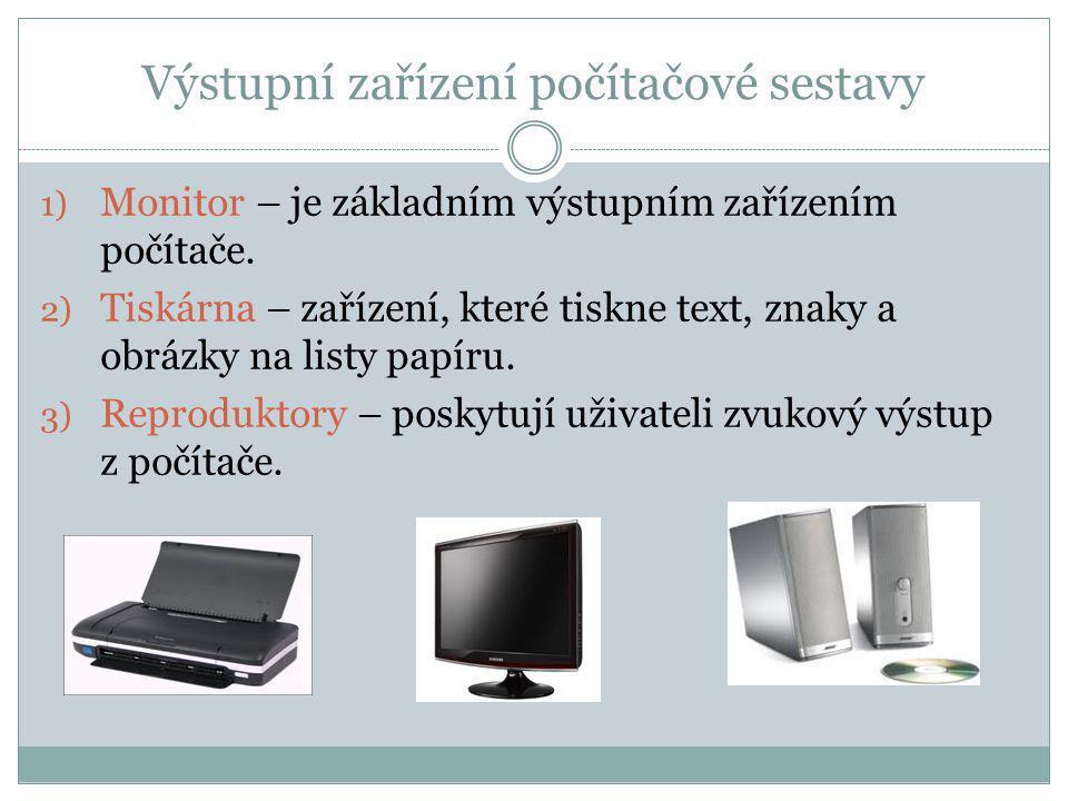 Výstupní zařízení počítačové sestavy