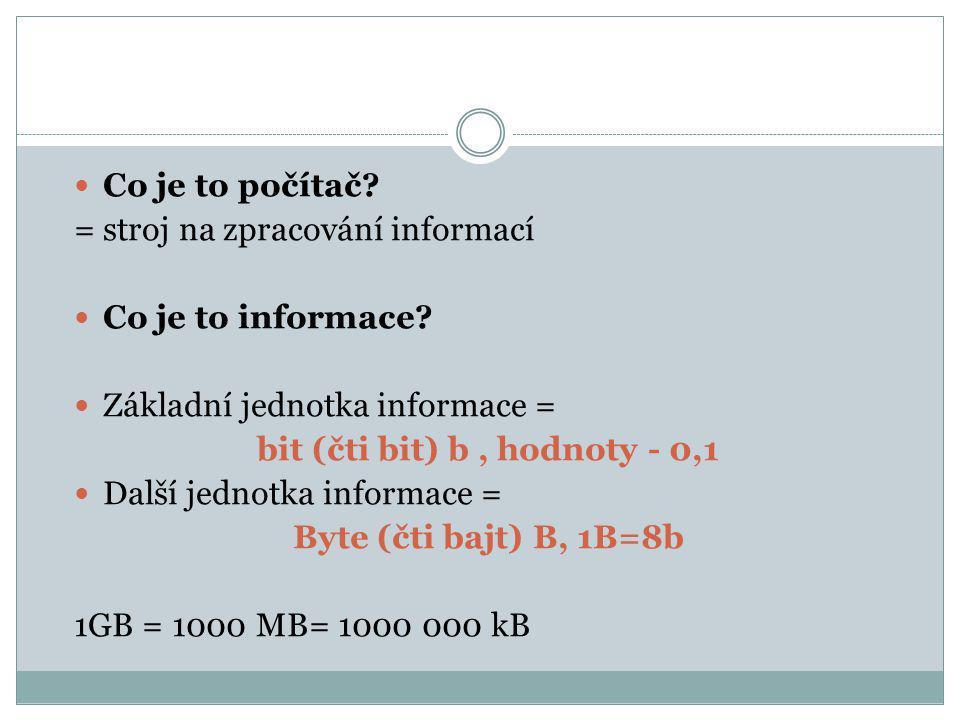 bit (čti bit) b , hodnoty - 0,1