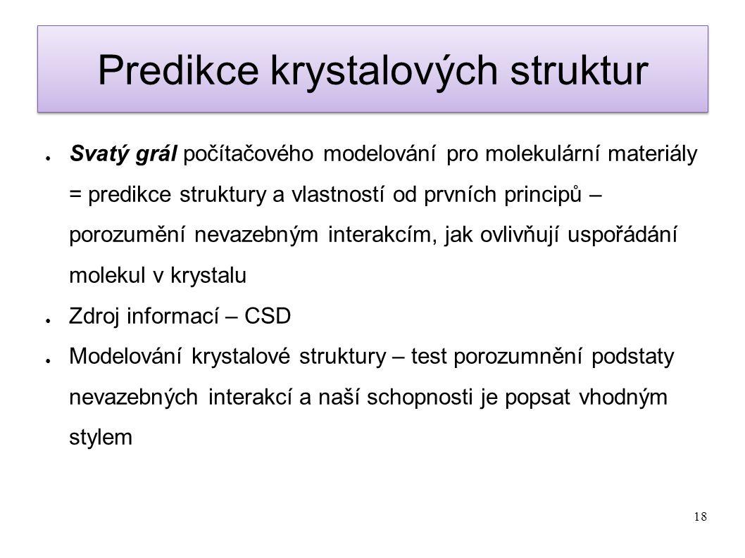 Predikce krystalových struktur