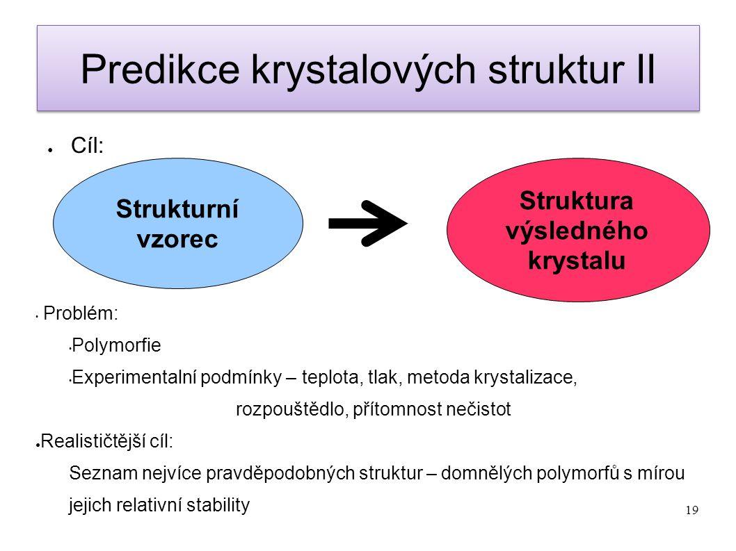 Predikce krystalových struktur II